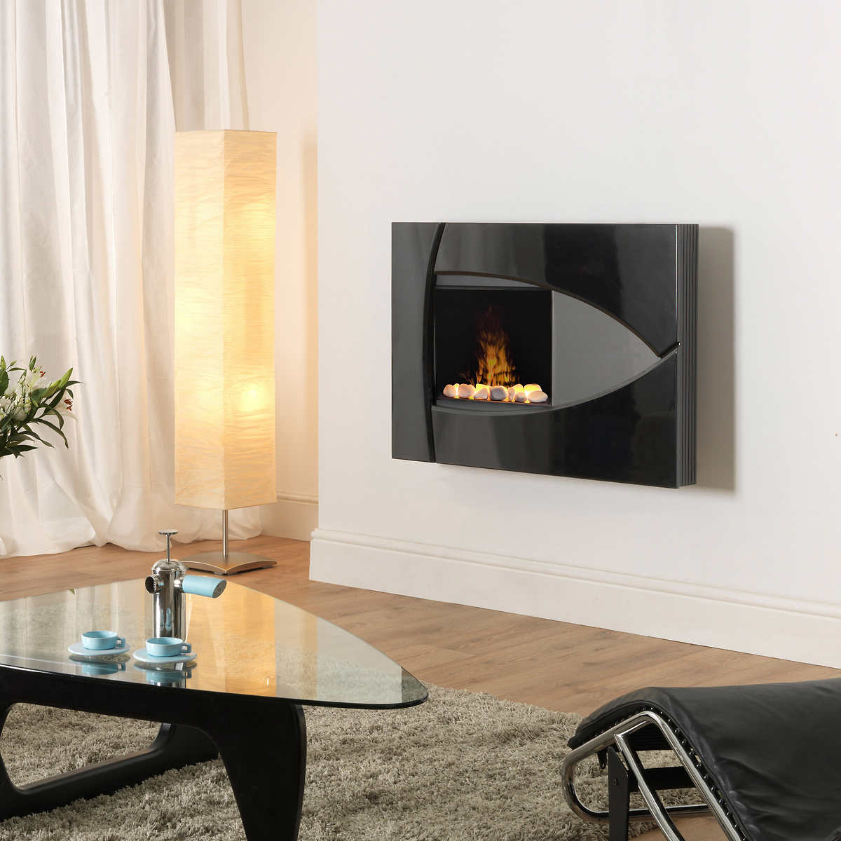ledgestone mantel led electric fireplace white