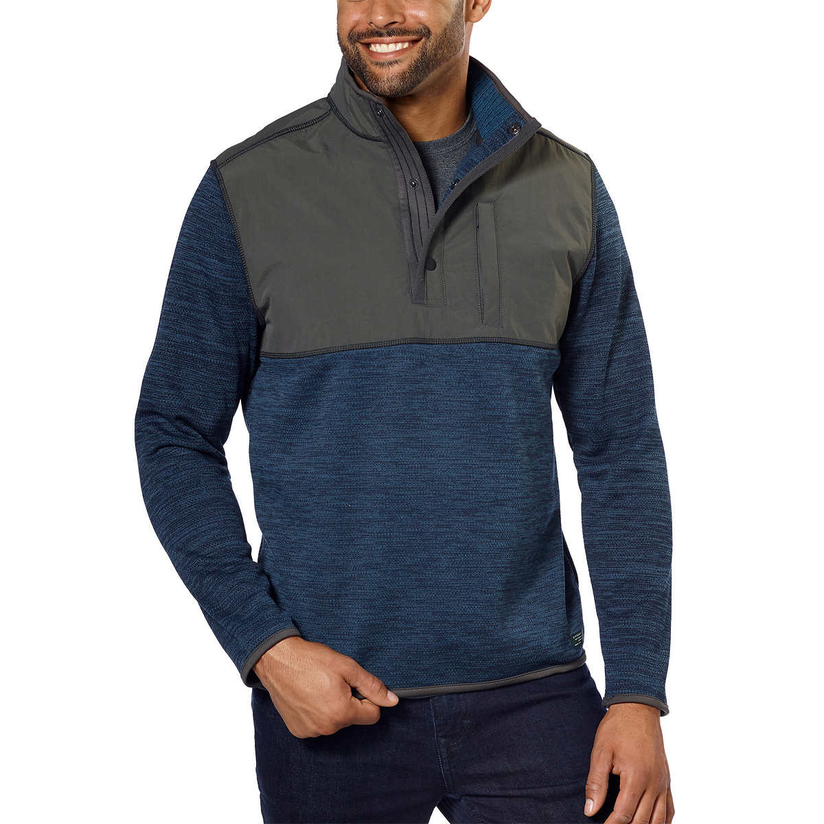 G.H. Bass & Co. Men's Mixed Media Pullover