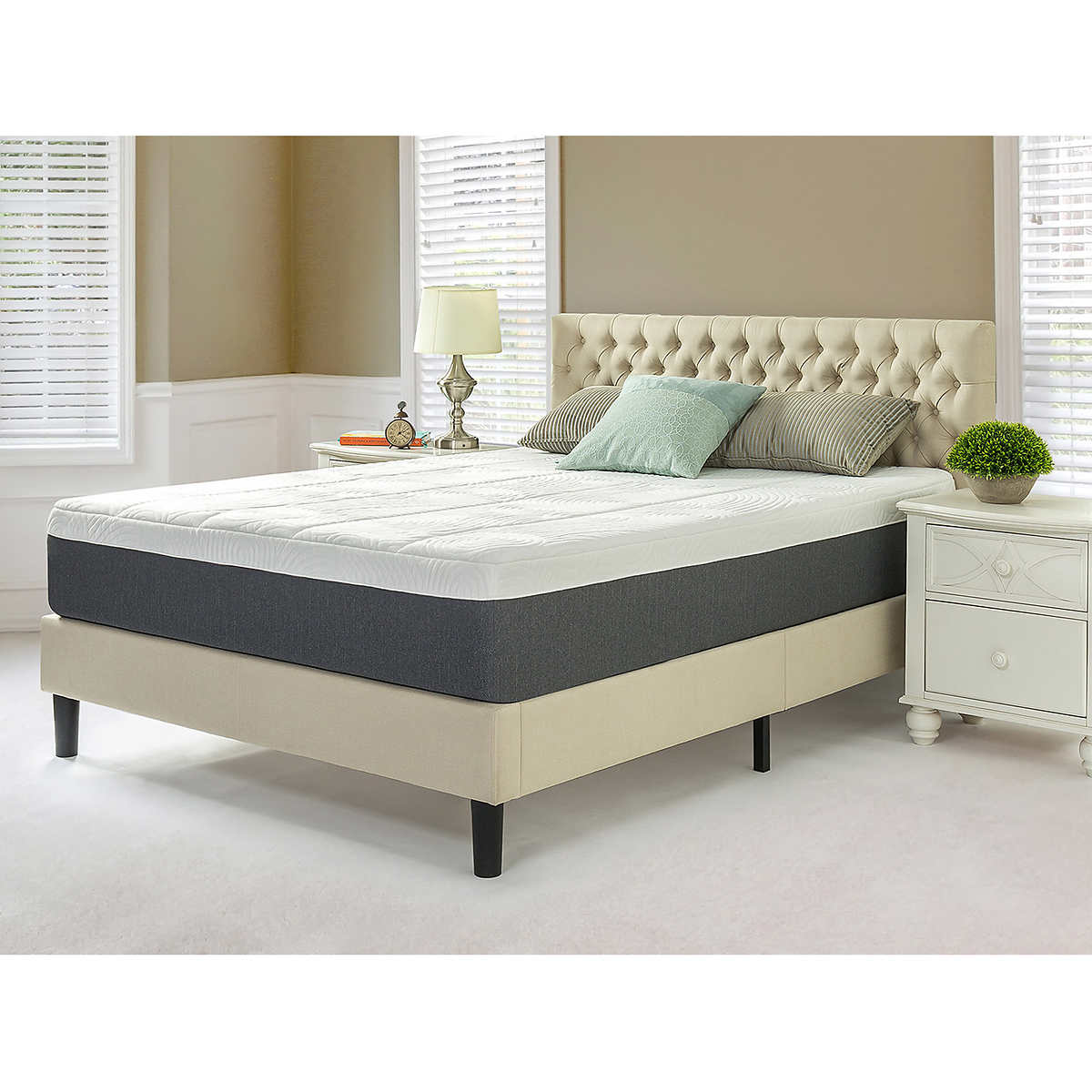 blackstone queen set 12 memory foam mattress and platform bed