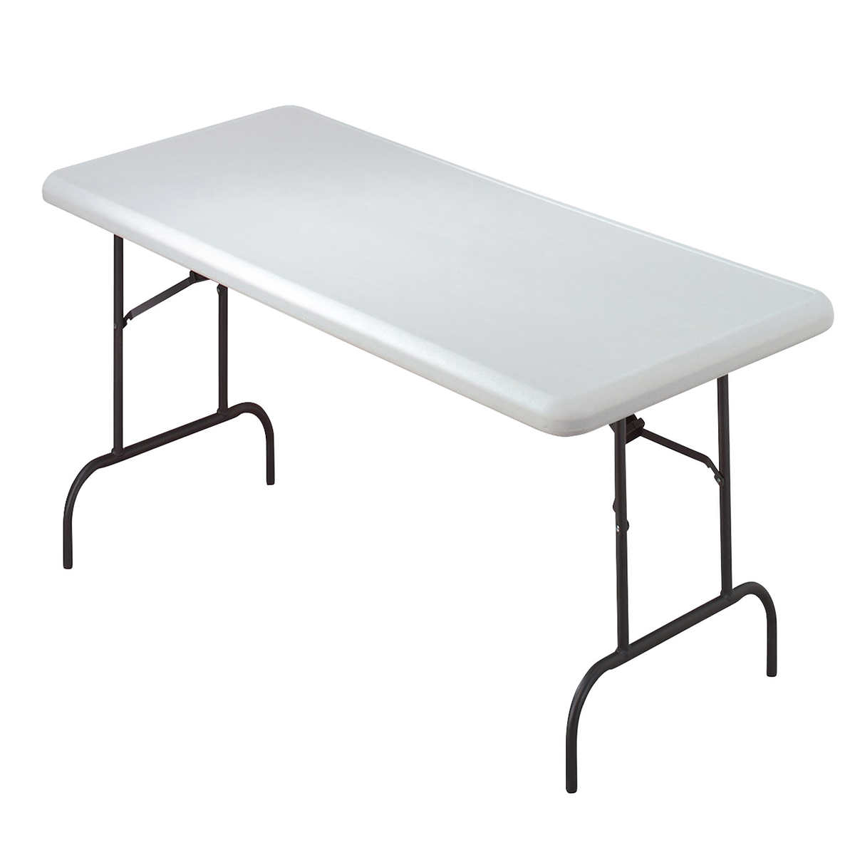 "Iceberg IndestrucTable TOO Folding Table 30"" x 60"" Platinum"
