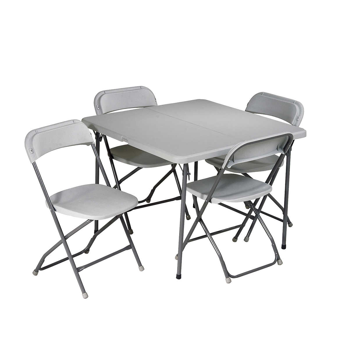 Folding Card Table and Chairs 5 pc Set