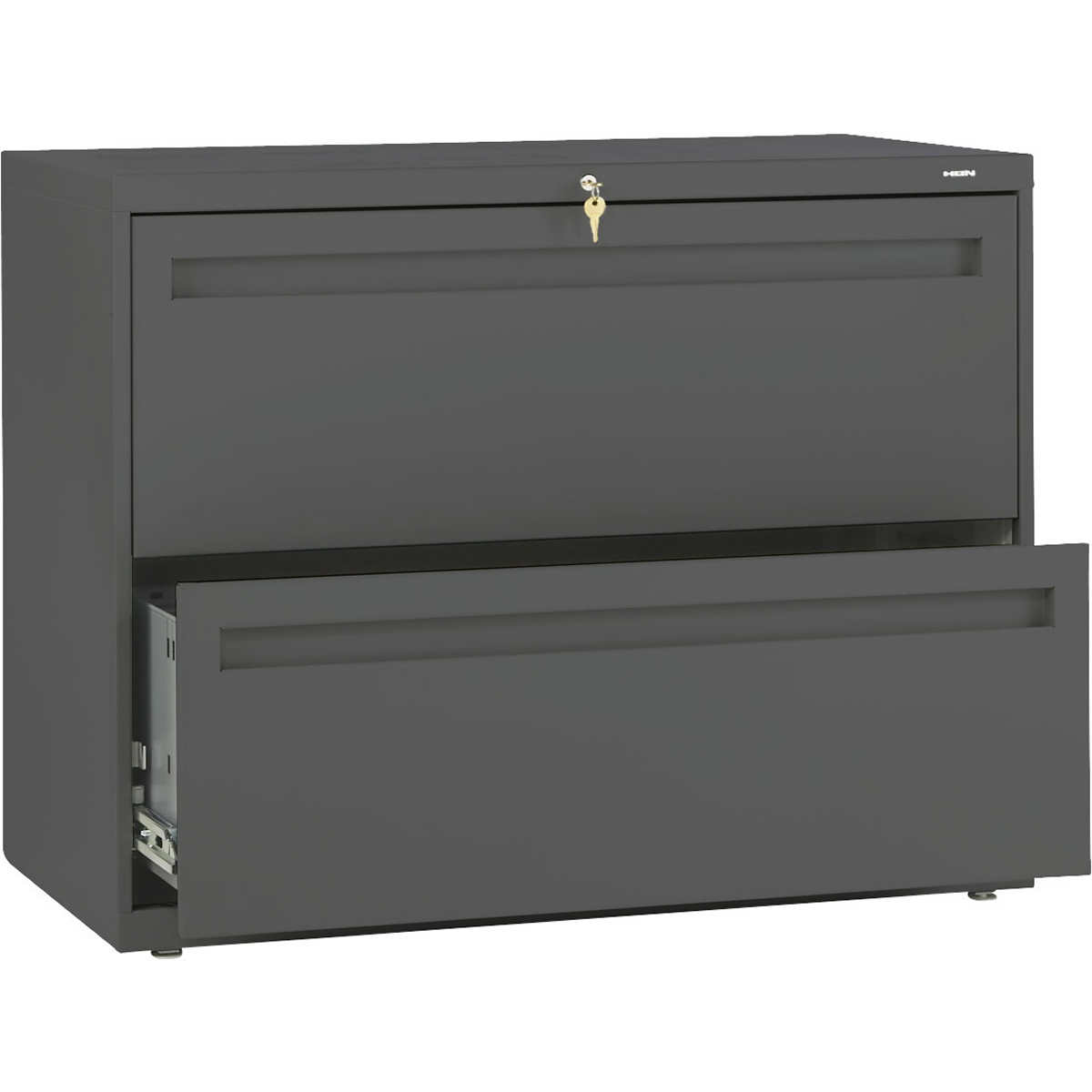 """hon 700 series 36""""w 2-drawer lateral file charcoal"""