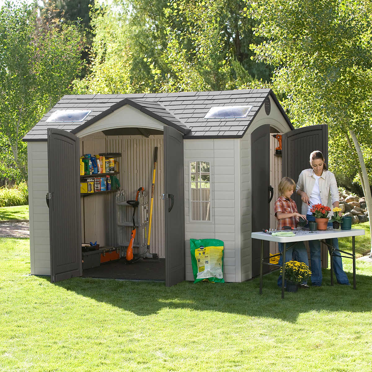 Garden Sheds 10 X 8 lifetime brighton 10' x 8' side entry shed