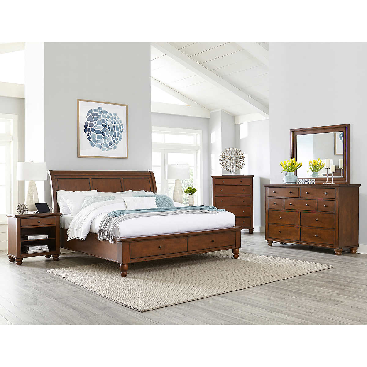 ashfield 6-piece cal king storage bedroom set