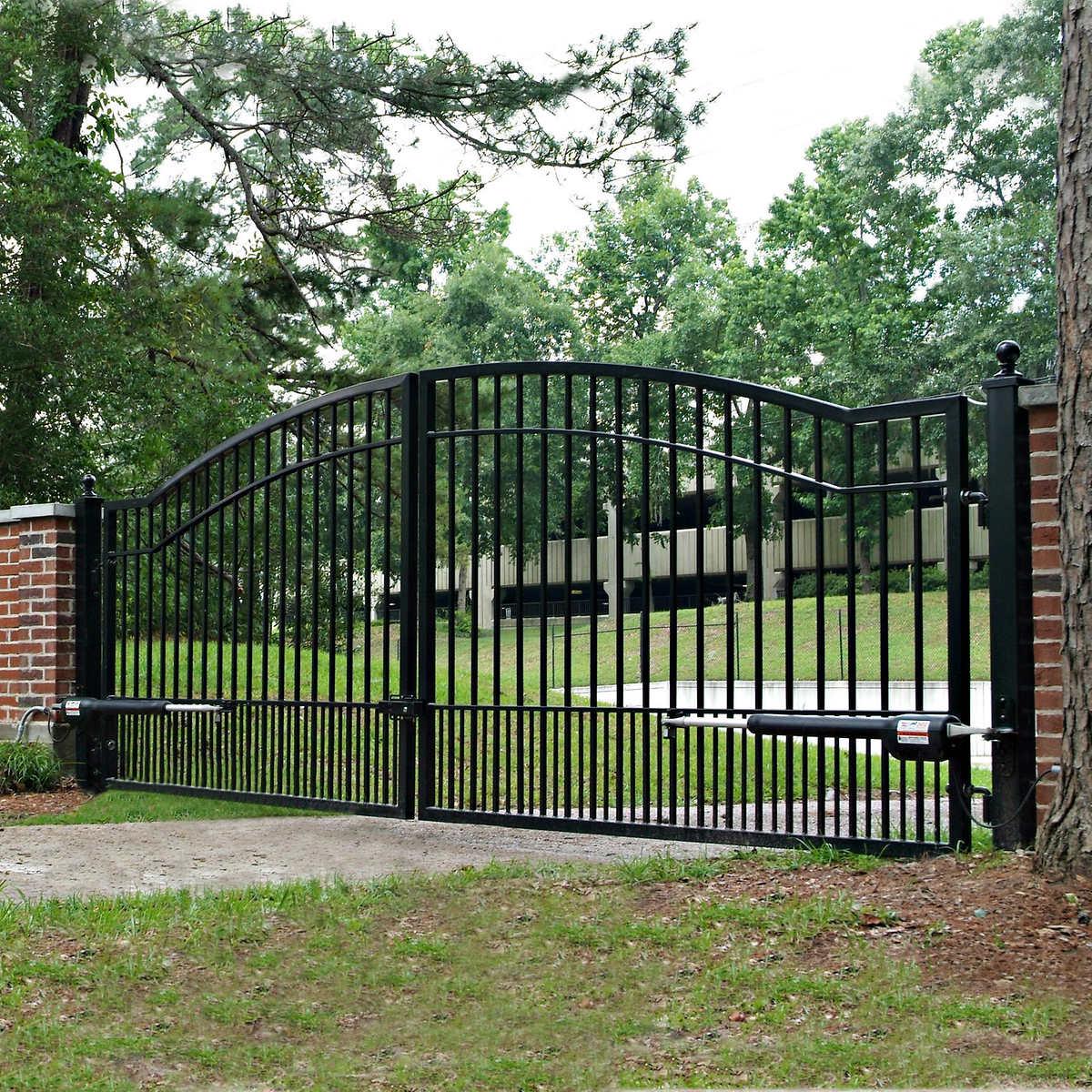 Mighty Mule Cascade 14 Dual Steel Driveway Gate Ebay