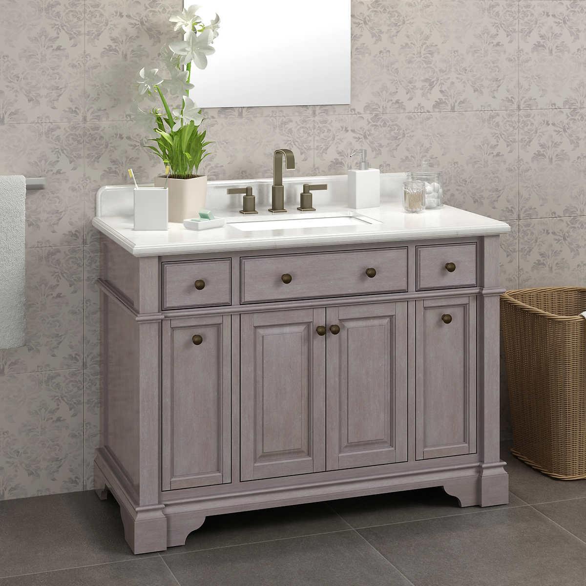 Gray Vanities For Bathrooms vanities | costco