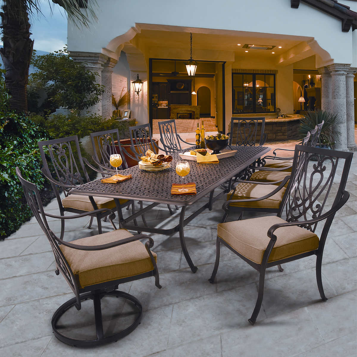 Patio Furniture Dining Sets saratoga 11-piece patio dining collection