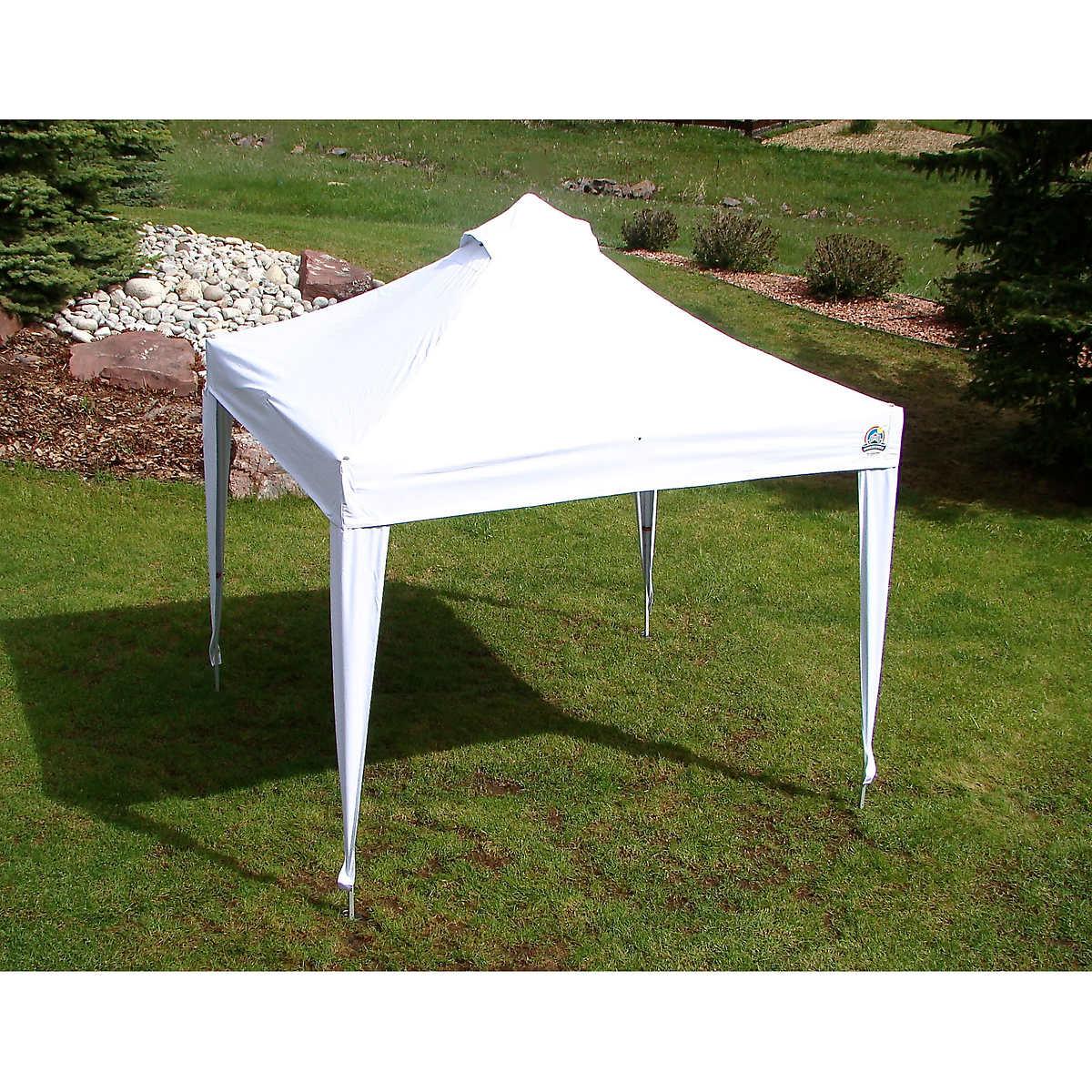 undercover 10 u0027 x 10 u0027 professional grade aluminum instant canopy