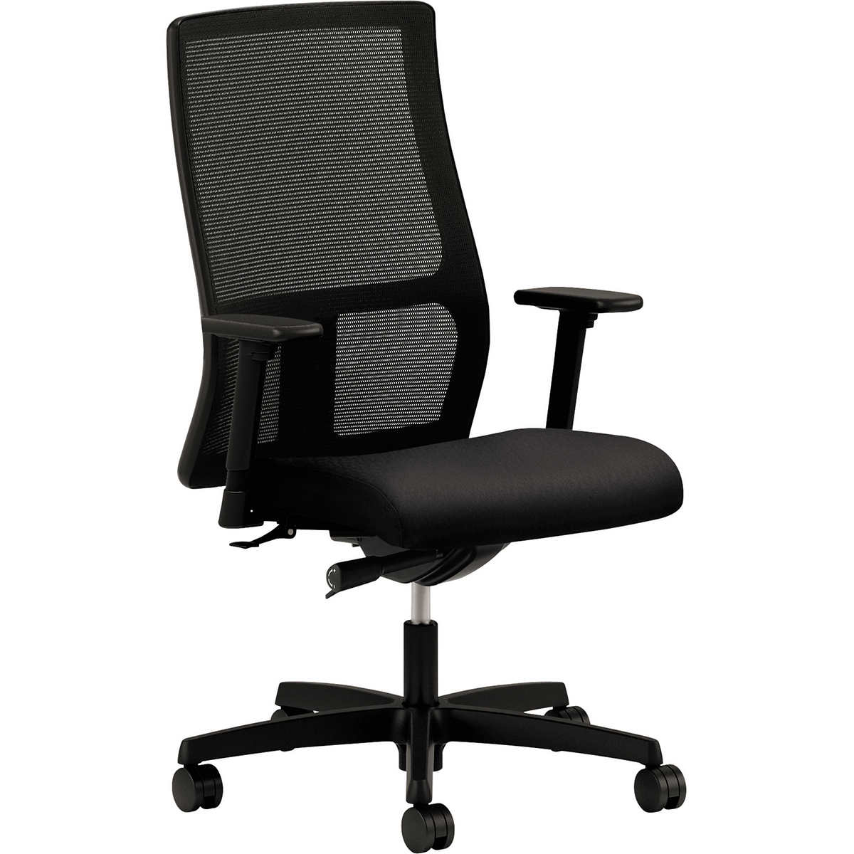 Alera Etros Series Black Mesh Mid Back Petite Chair
