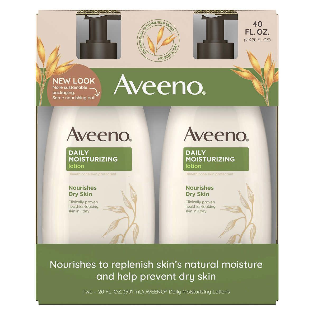 aveeno daily moisturizing lotion 20 fl oz 2 pack