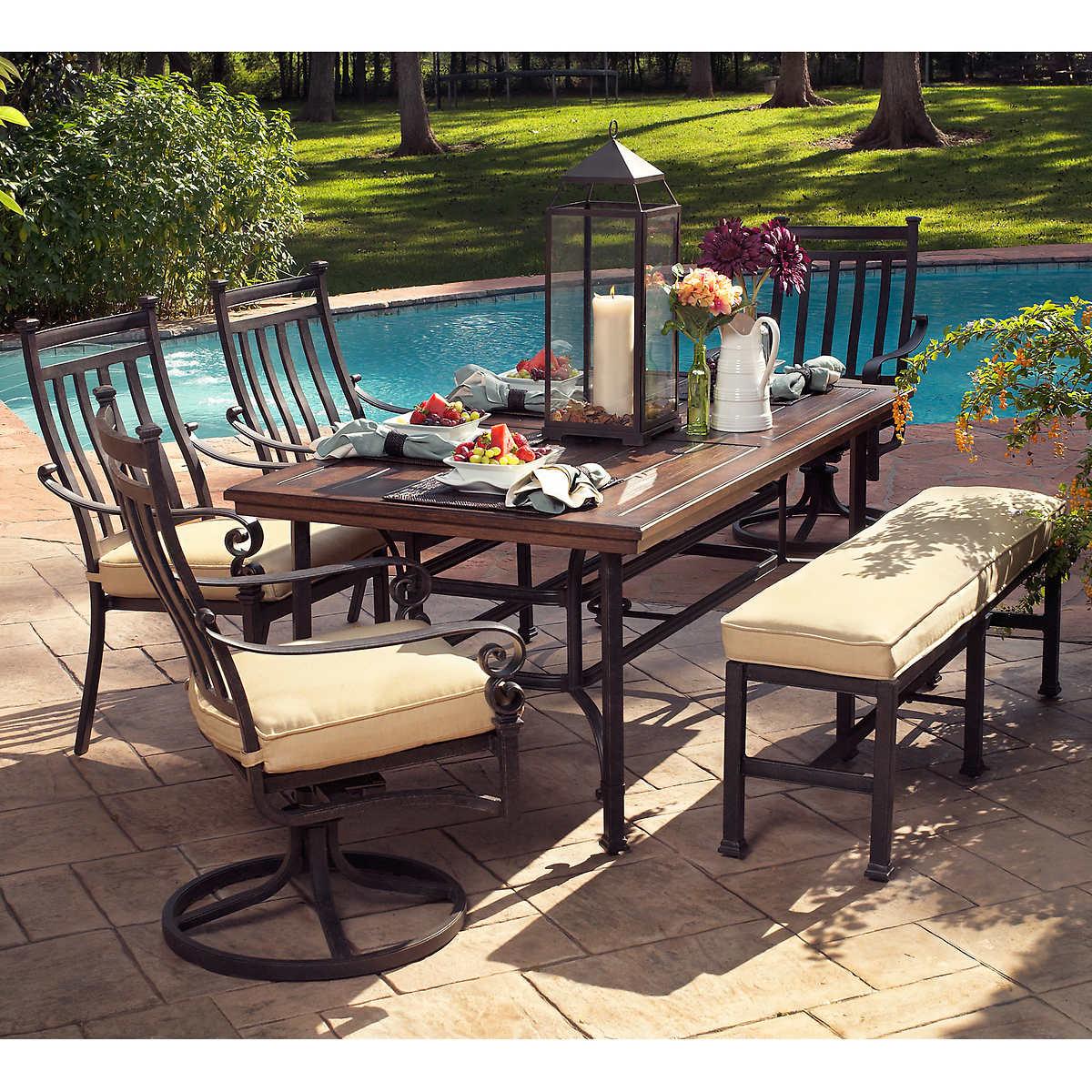Outdoor Patio Dining Furniture meridian 6-piece patio dining set