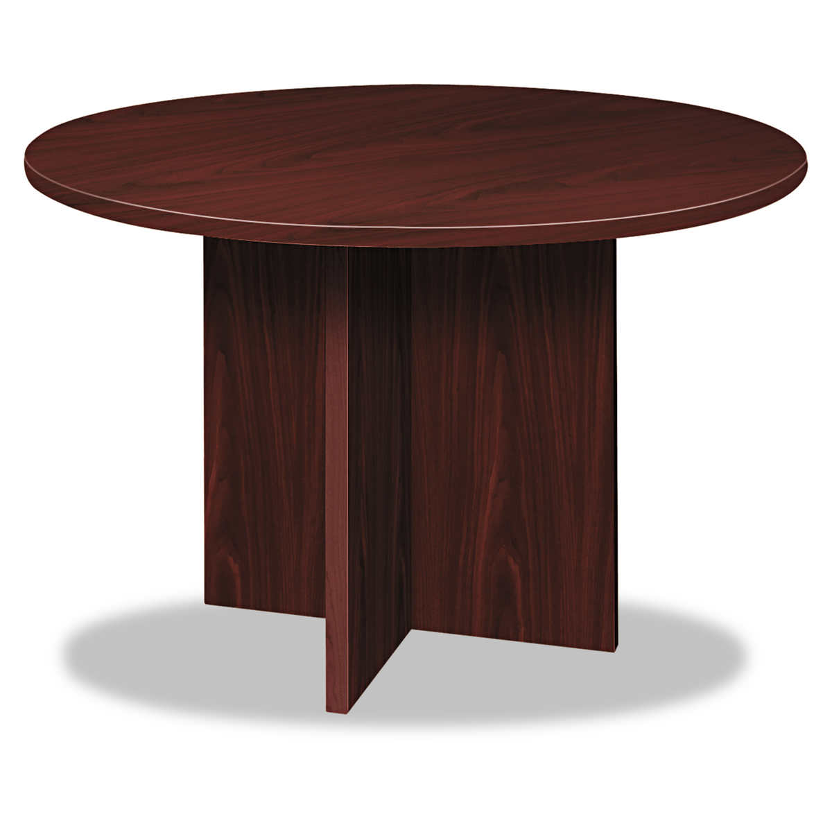 """basyx by HON 48"""" Round Conference Table Mahogany"""