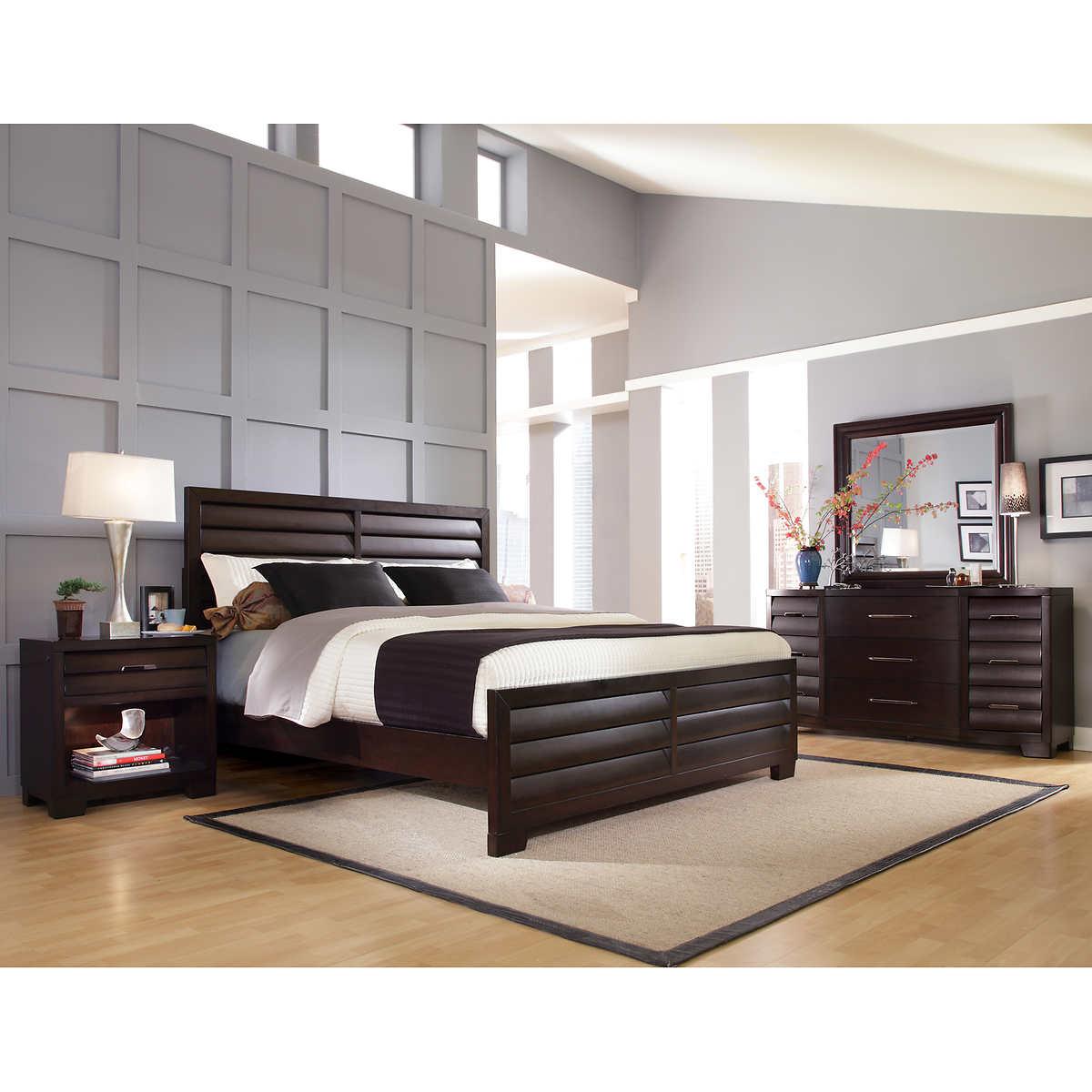 pulaski furniture king bedroom sets   costco