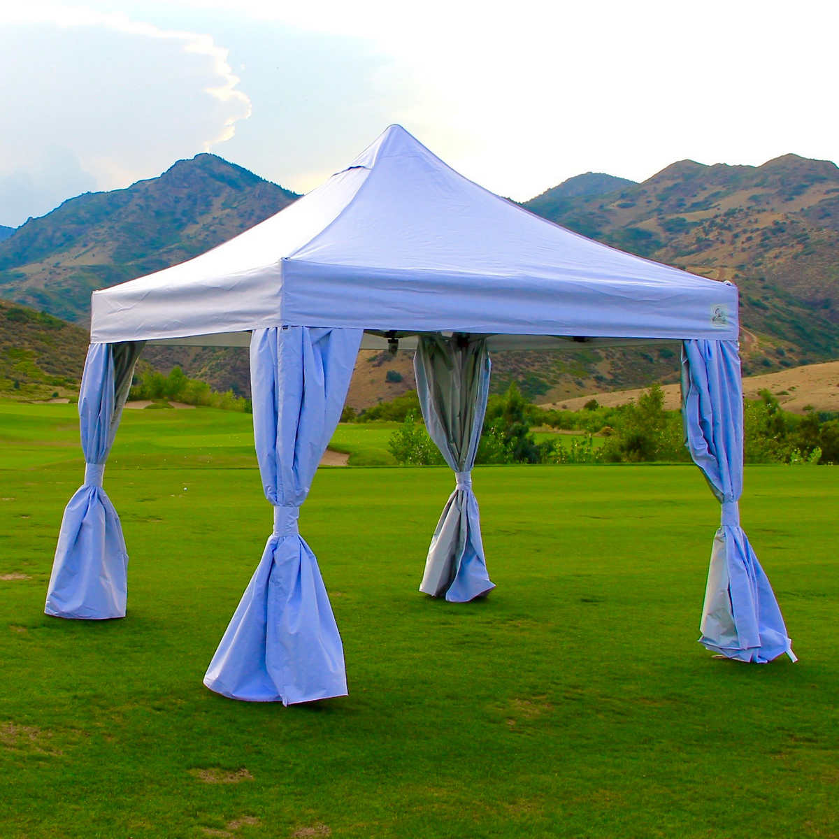 undercover 10 u0027 x 10 u0027 instant canopy with polyester walls and crs