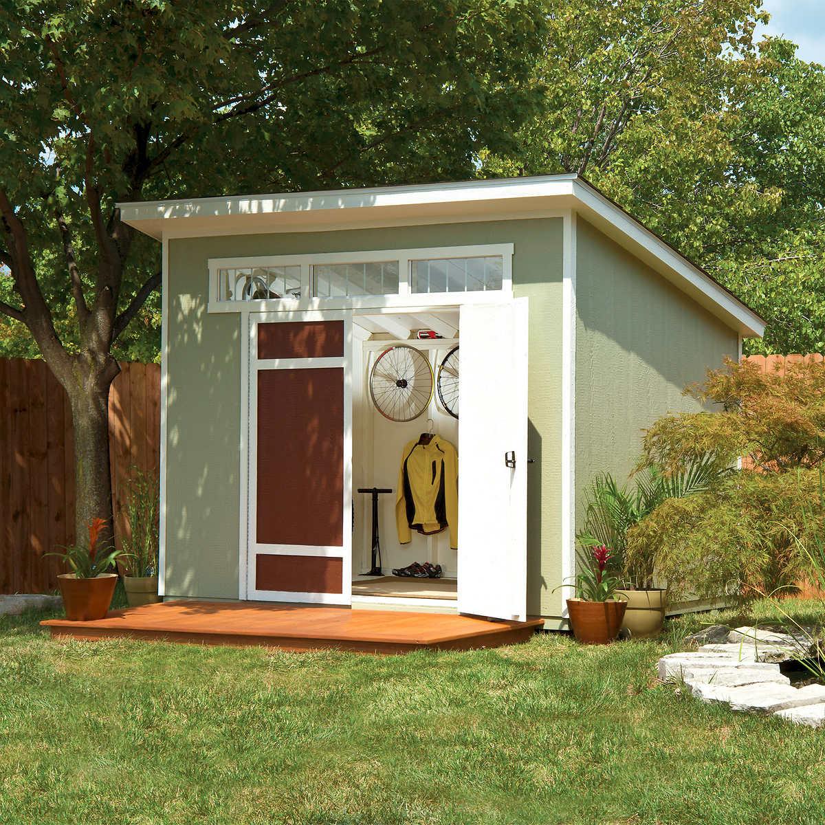 Garden Sheds 7 X 9 aston 10' x 7.5' wood shed