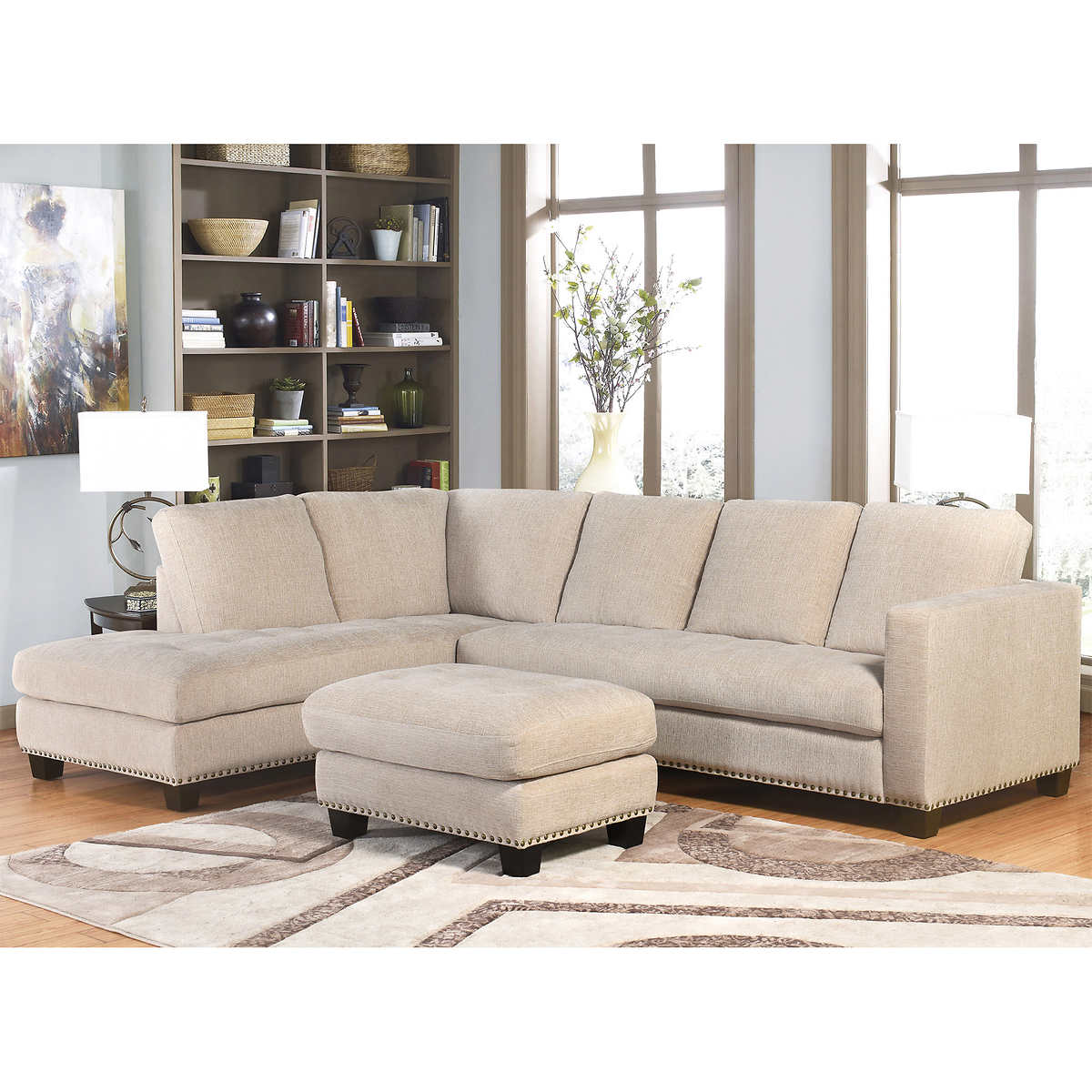fabric sofas sectionals costco richmond fabric sectional and ottoman living room set