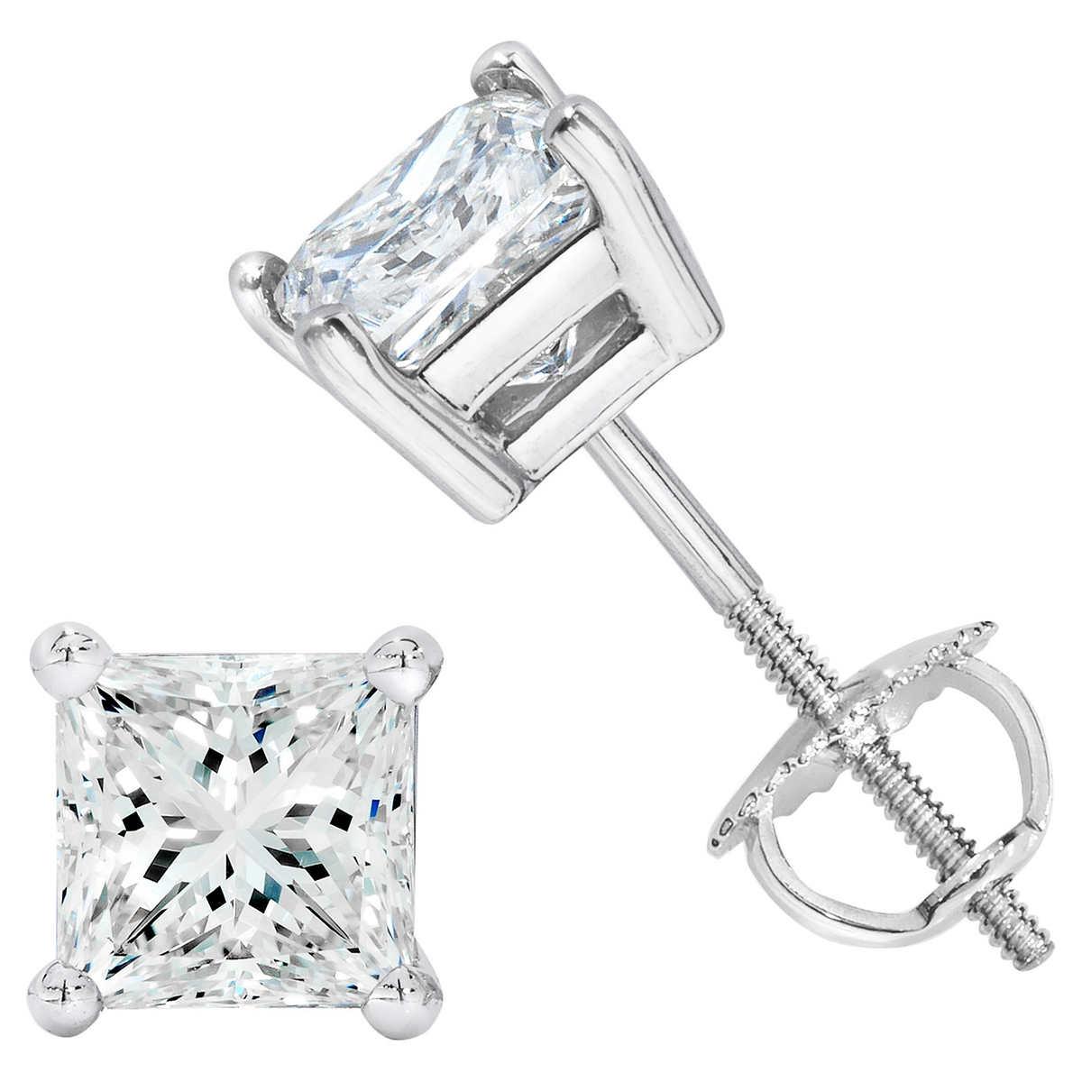 Princess Cut 2 00 ctw VS2 Clarity I Color Diamond Platinum