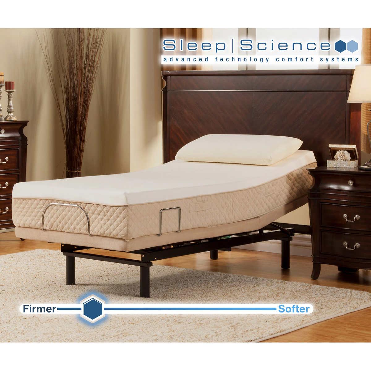 "sleep science black diamond 11"" twin xl memory foam mattress with"