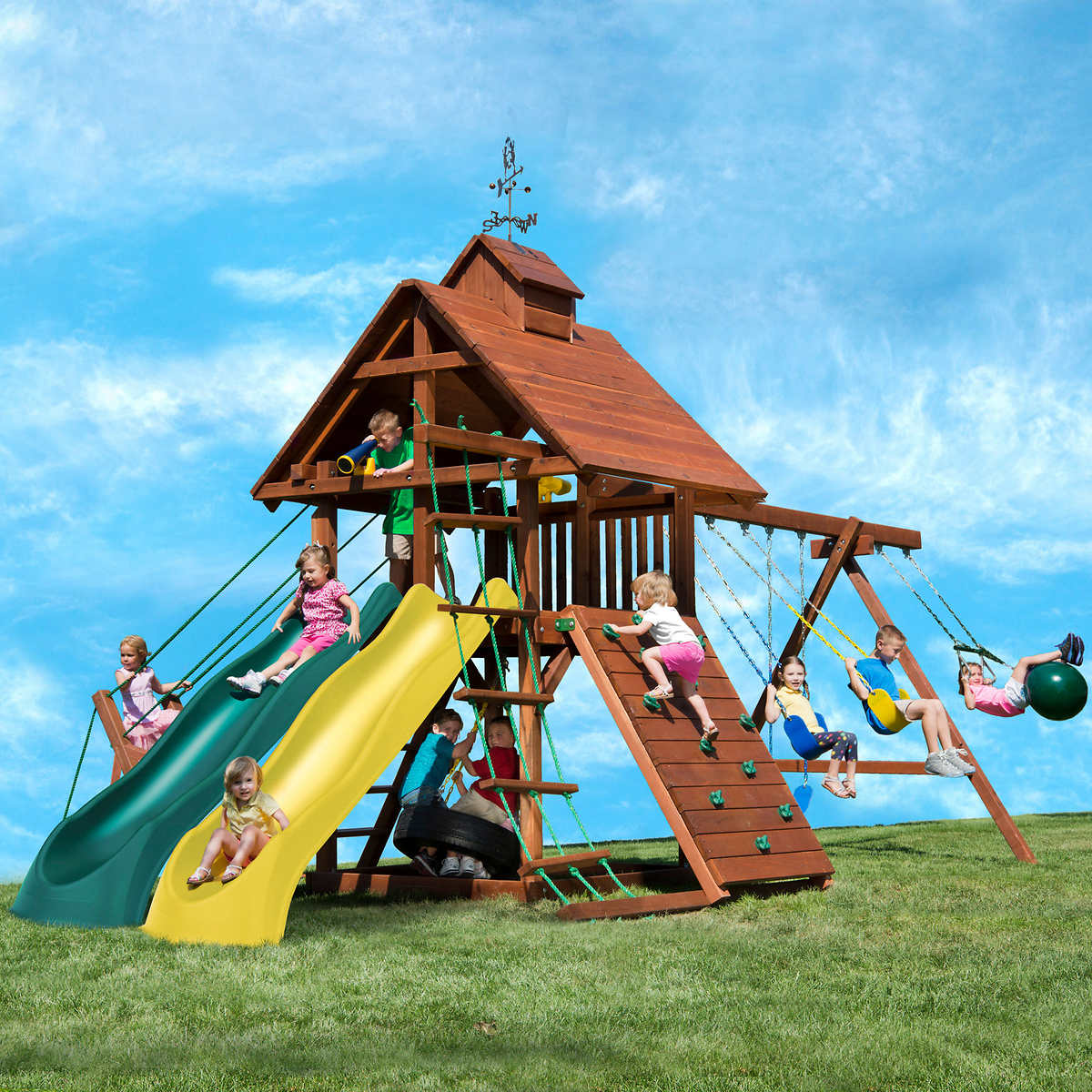 kids creations windjammer redwood playset do it yourself or
