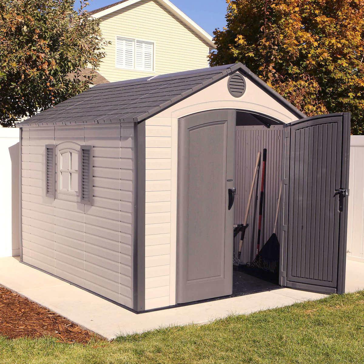 Garden Sheds 10 X 10 lifetime 8' x 10' storage shed