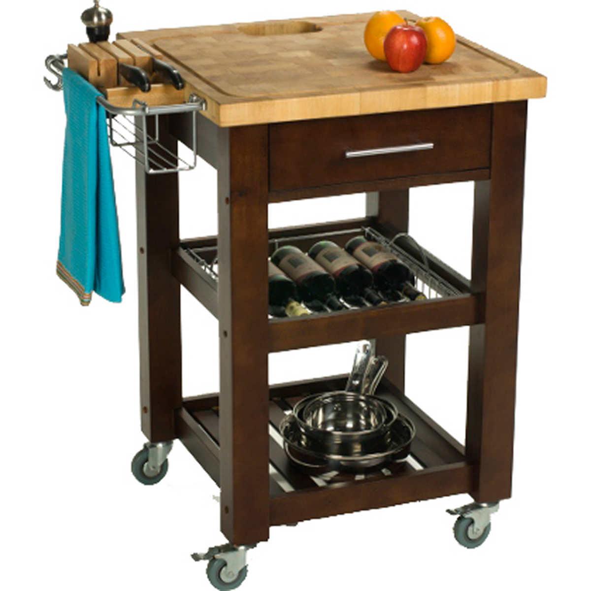 "chris & chris 24"" x 24"" x 35"" pro chef kitchen work station"