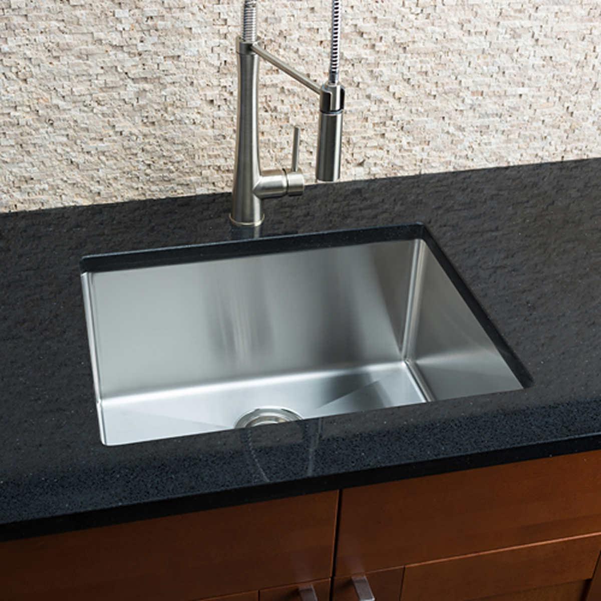 hahn chef series handmade medium single bowl sink