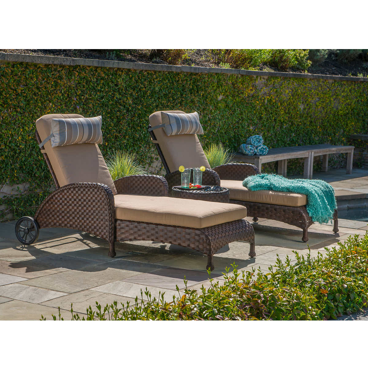 Resin Wicker Lounge Chairs chaise lounges | costco