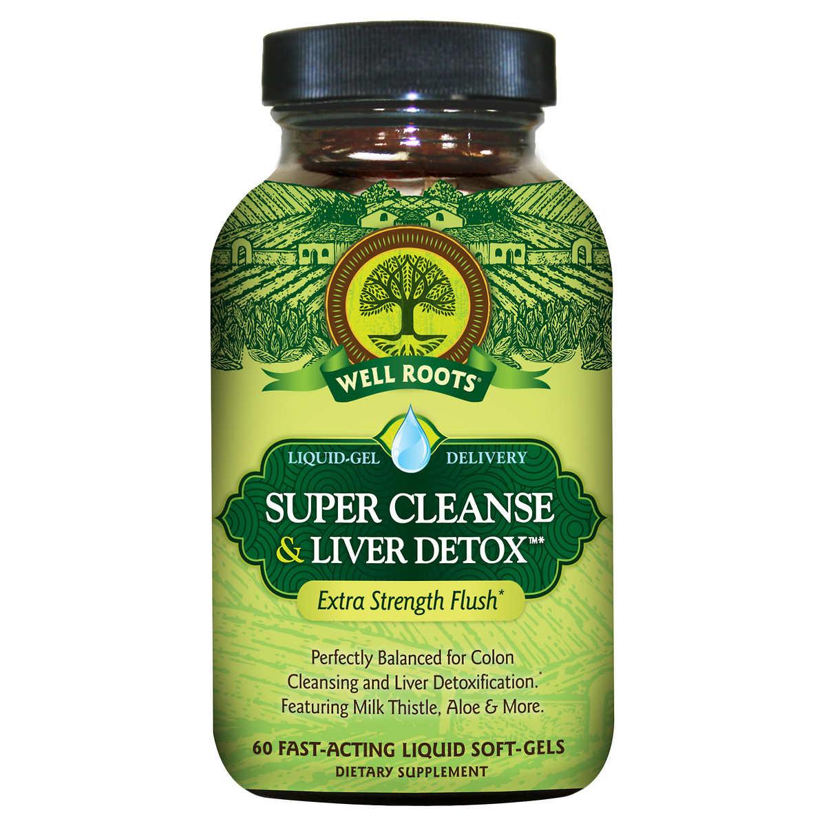 Well Roots Colon Cleanse Liver Detox 120 Liquid Softgels