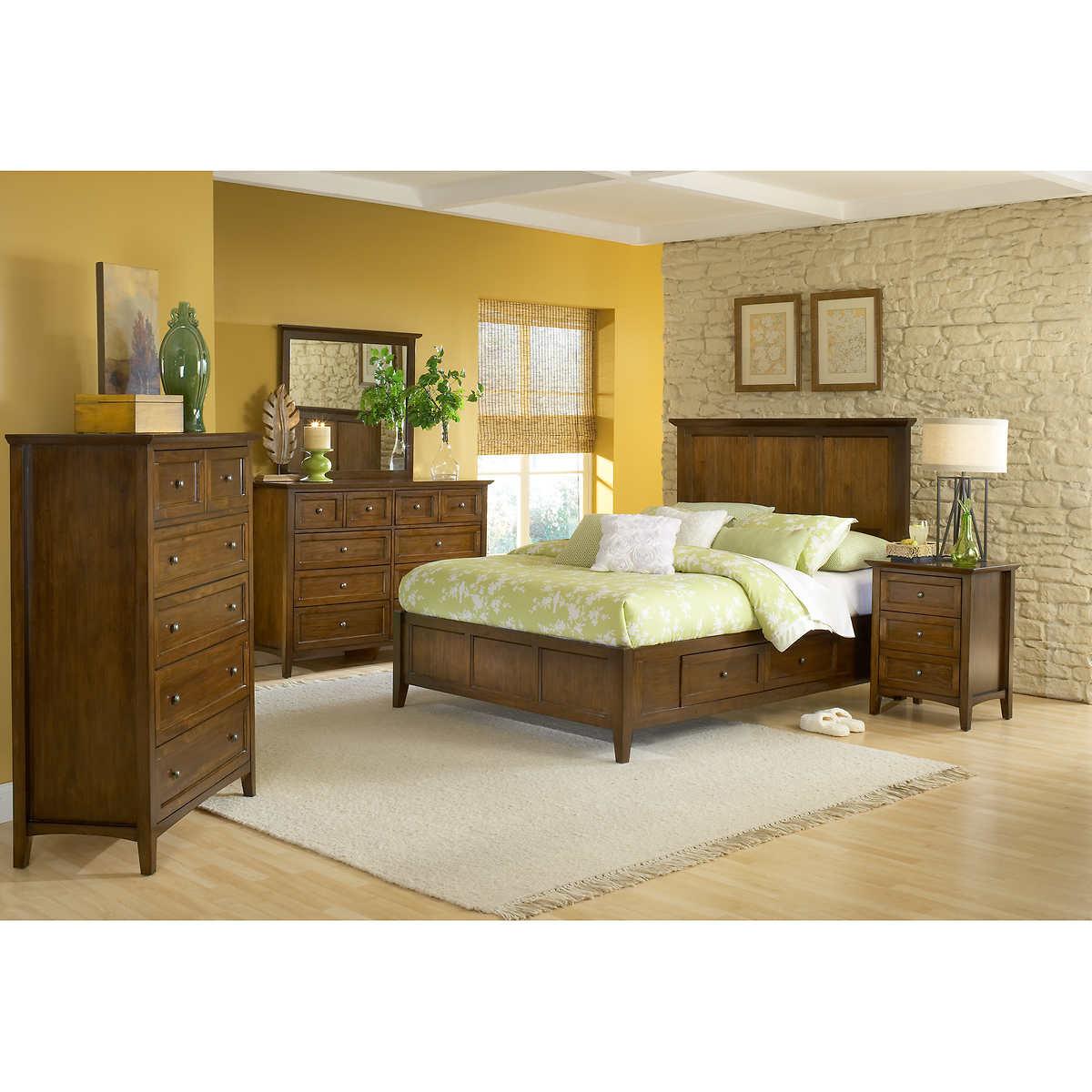 Bedroom Furniture Queen Storage Bed queen bedroom sets | costco