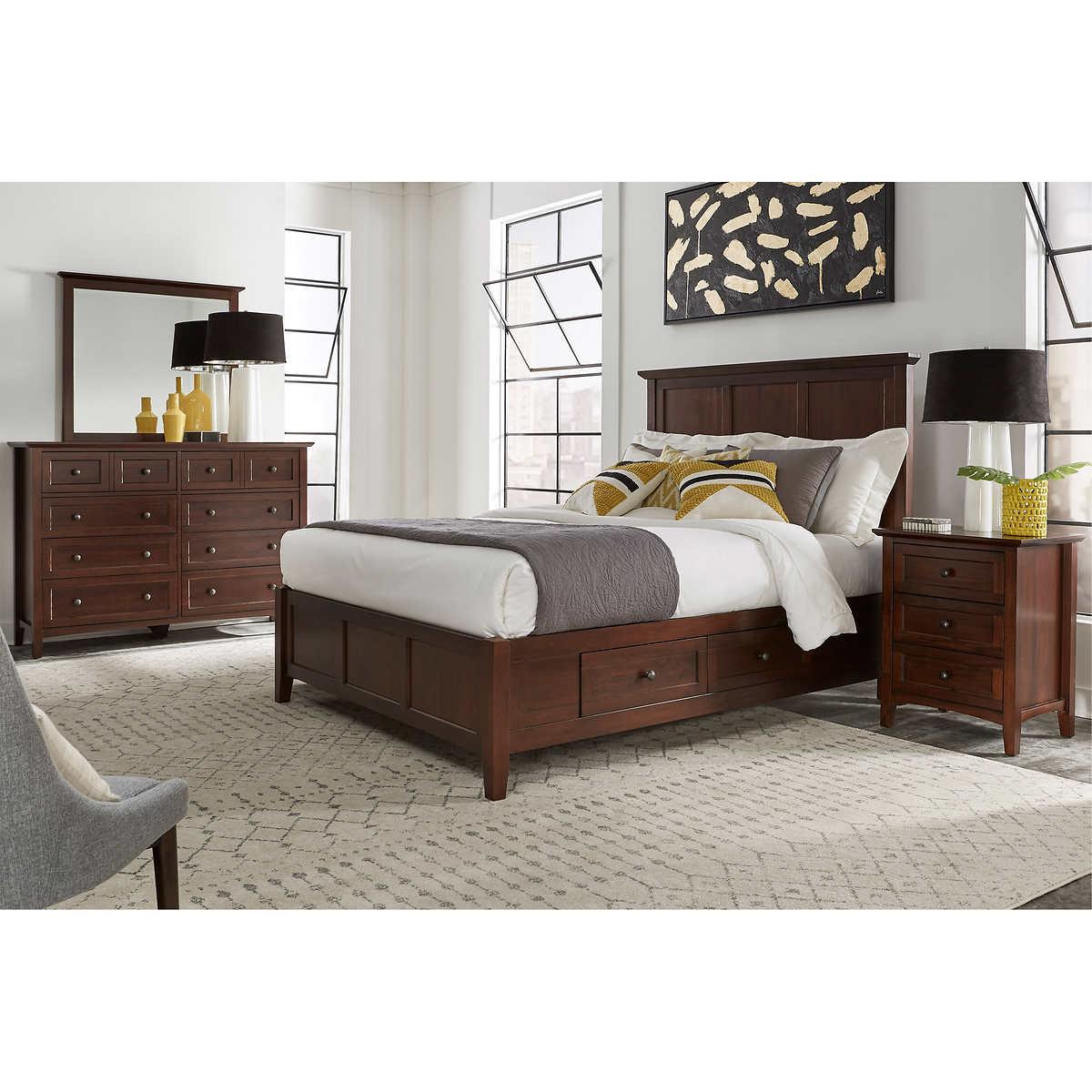 Queen Bedroom Sets With Storage pendleton 5-piece queen storage bedroom set