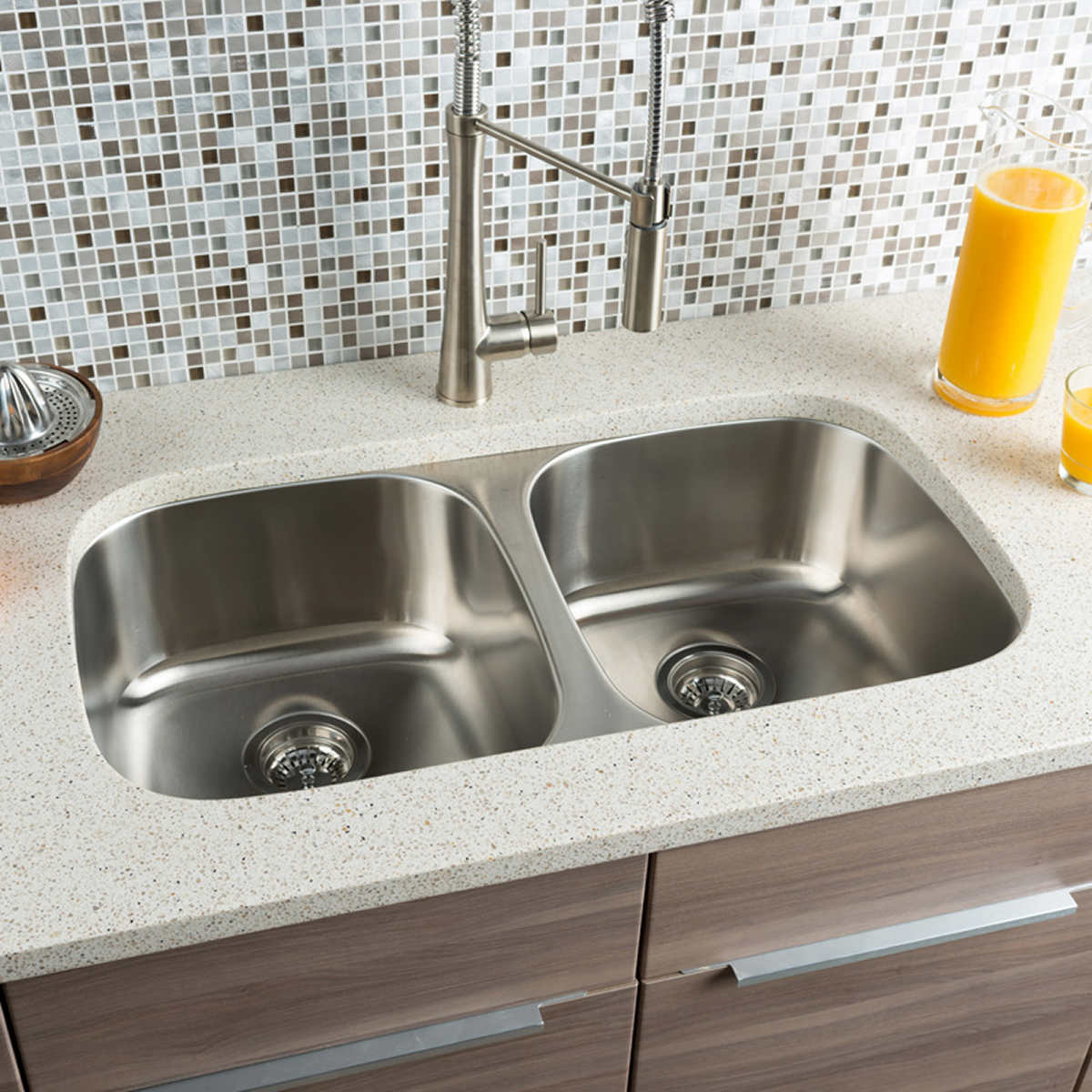 hahn chef series equal double bowl sink