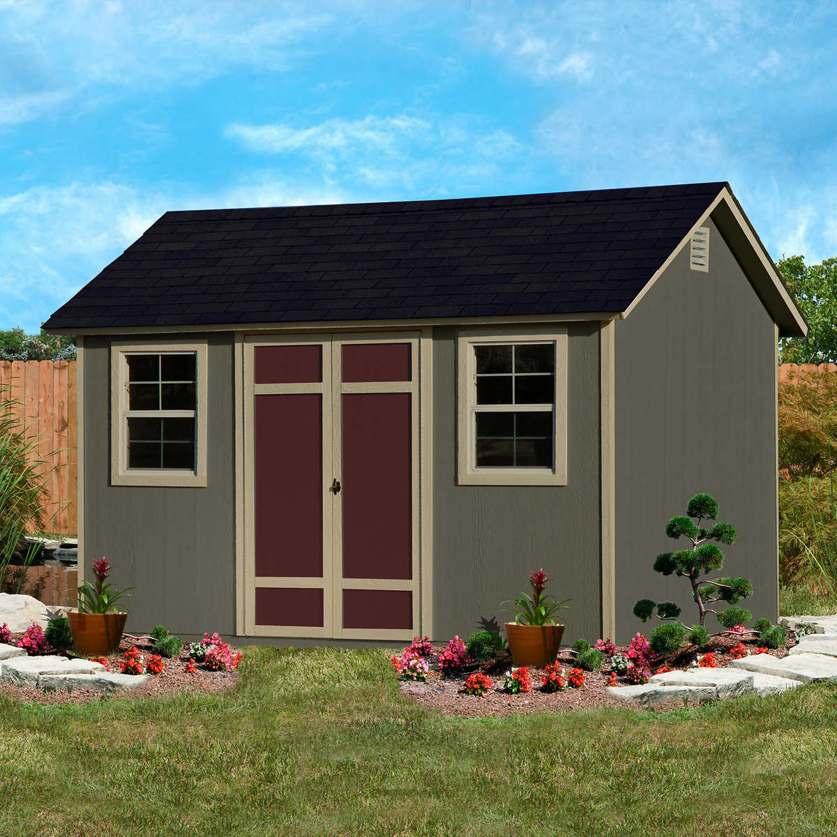 Garden Sheds 6 X 12 wilmington 12' x 8' wood storage shed