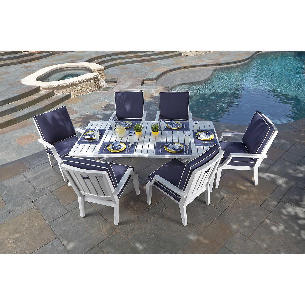 Patio Furniture 7 Piece Set seaview 7-piece patio dining set