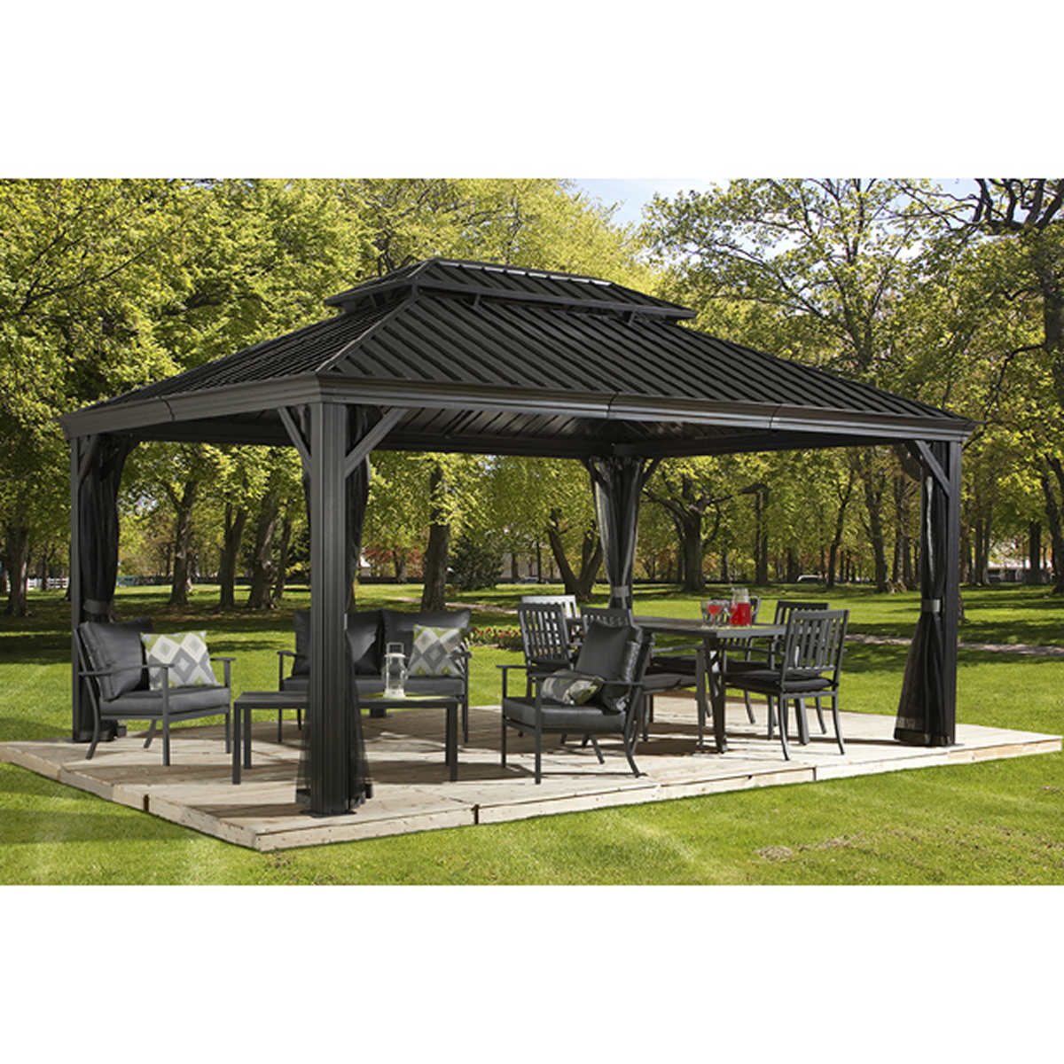 Sojag Messina Galvanized Steel Roof Sun Shelter