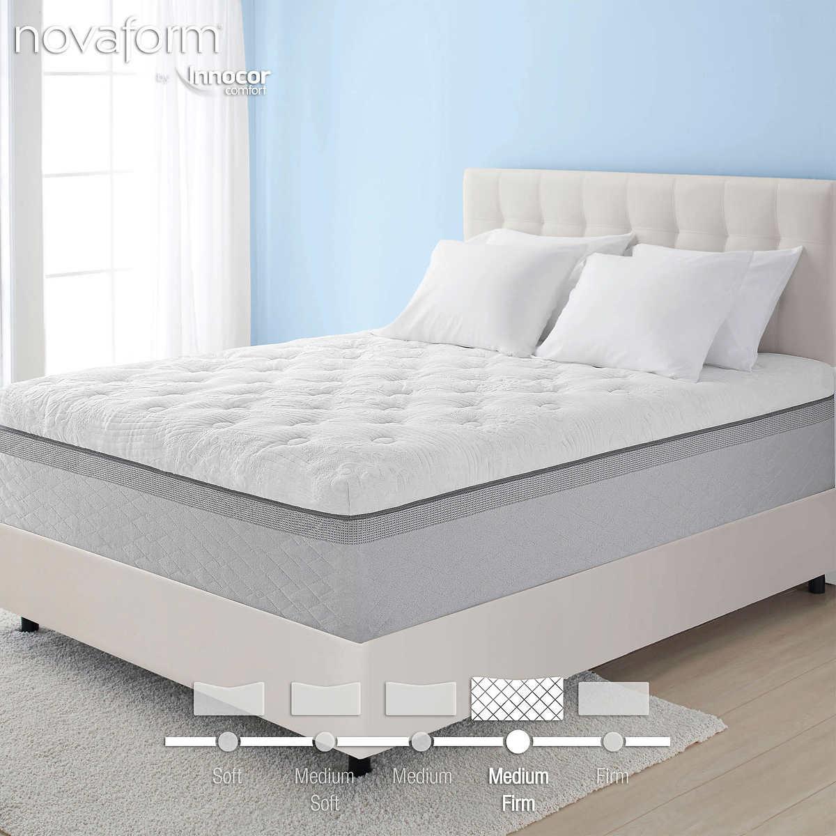 novaform comfort grande memory foam mattress   costco