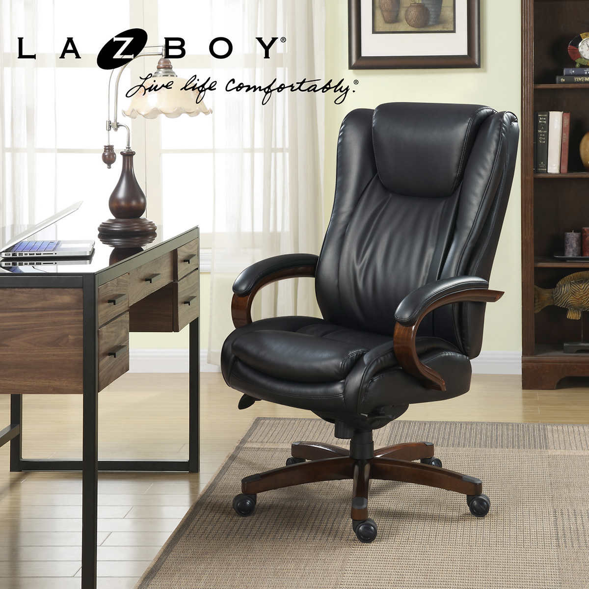 la-z-boy big & tall executive leather office chair