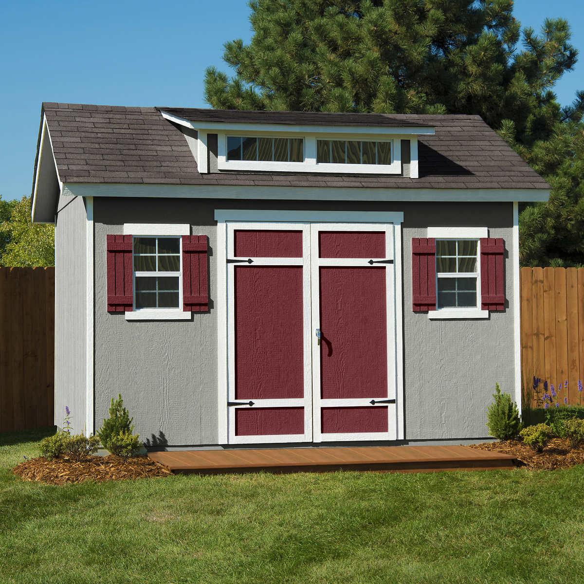 Garden Sheds 12 X 12 stonecroft 12' x 10' wood storage shed