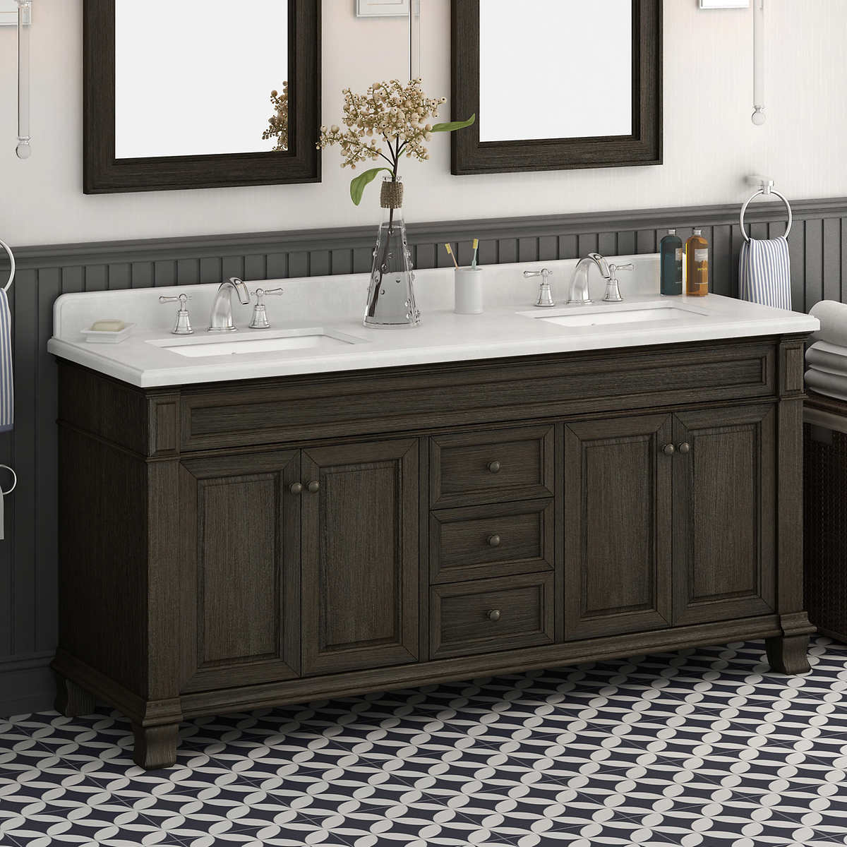 Bathroom Vanity Combos Sale double sink vanities | costco