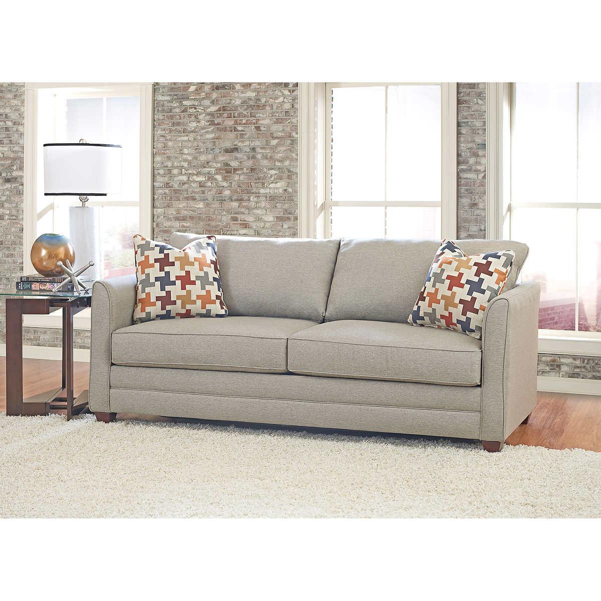 fabric sofas sectionals costco tilden fabric queen sleeper sofa
