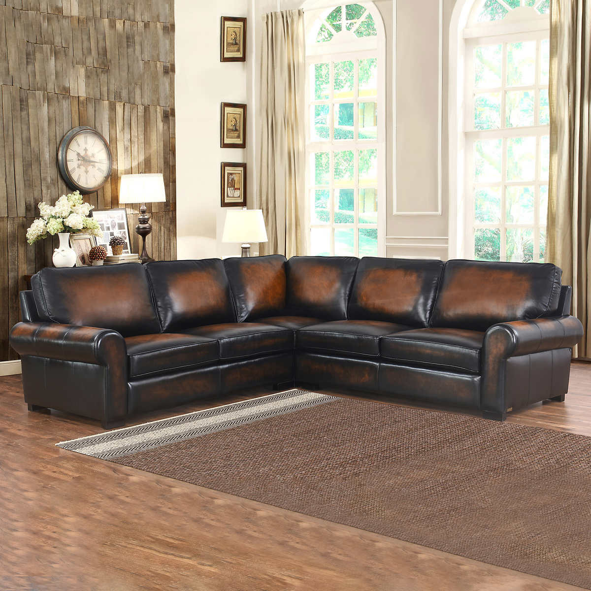leather and fabric living room sets top grain leather living room set 25529