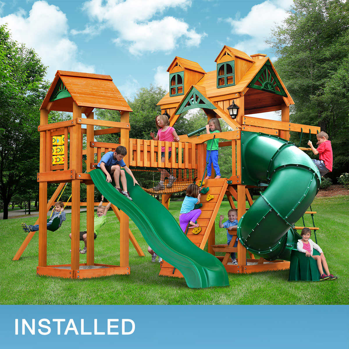 gorilla playsets wilderness gym playset do it yourself