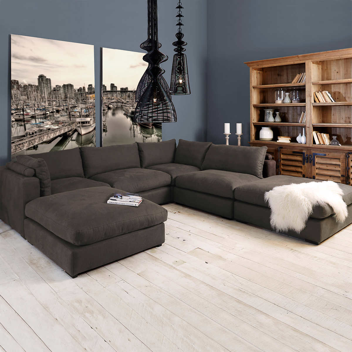 Home Furniture Sofa fabric sofas & sectionals | costco