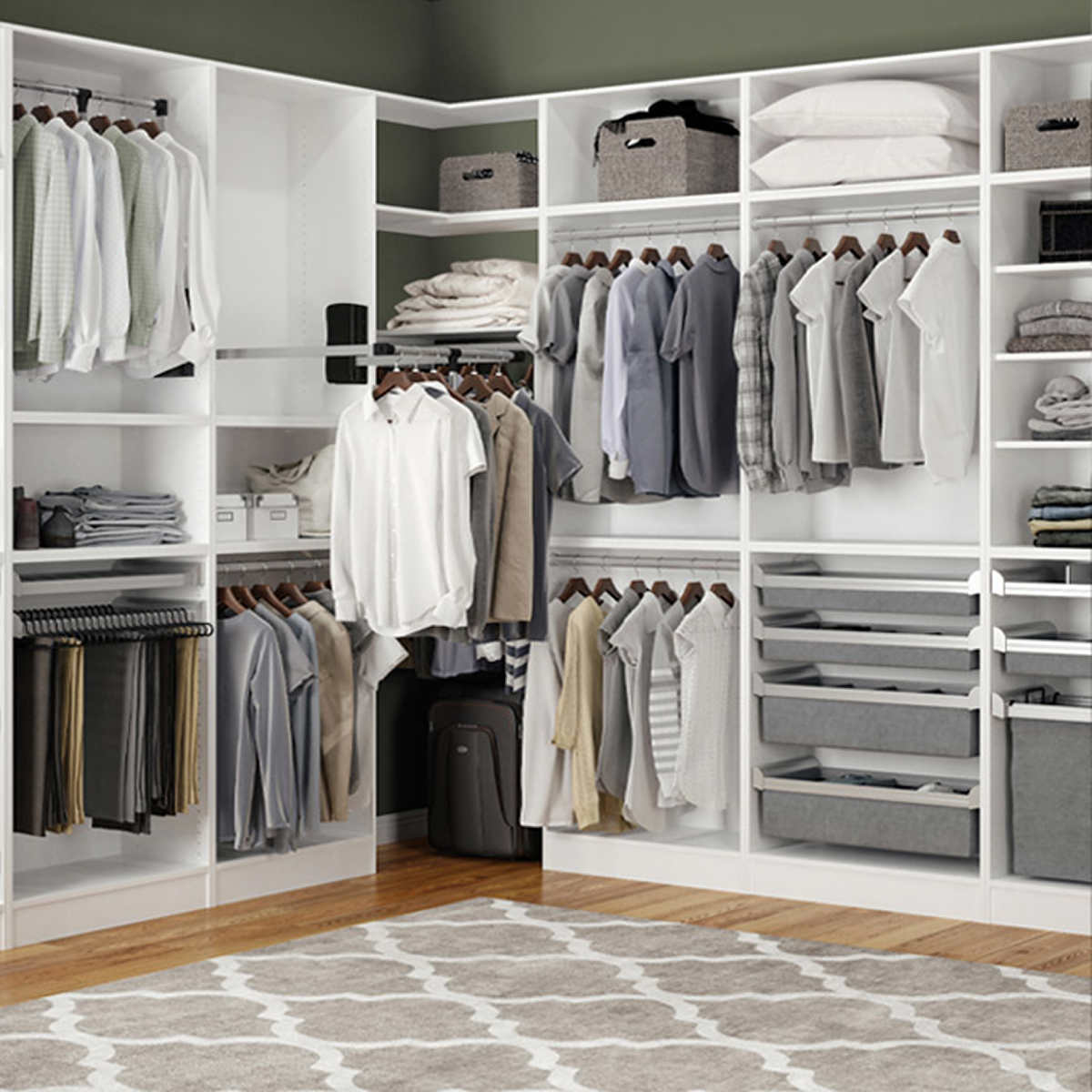 Pictures Of Closets custom assembled closetstechnik cabinetry system<br/>ships in