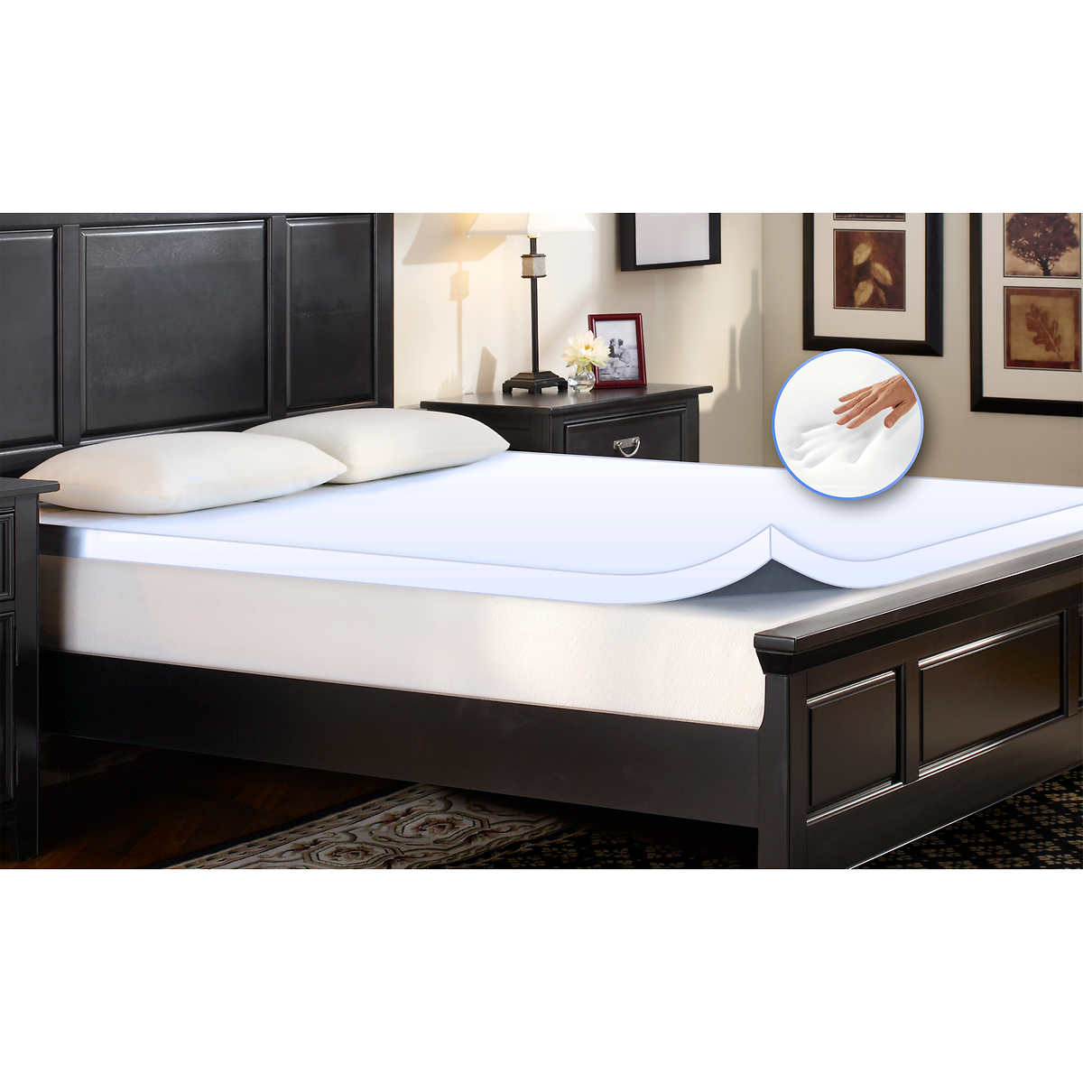 comfort revolution memory foam mattress toppers 2 inch, 3 inch or