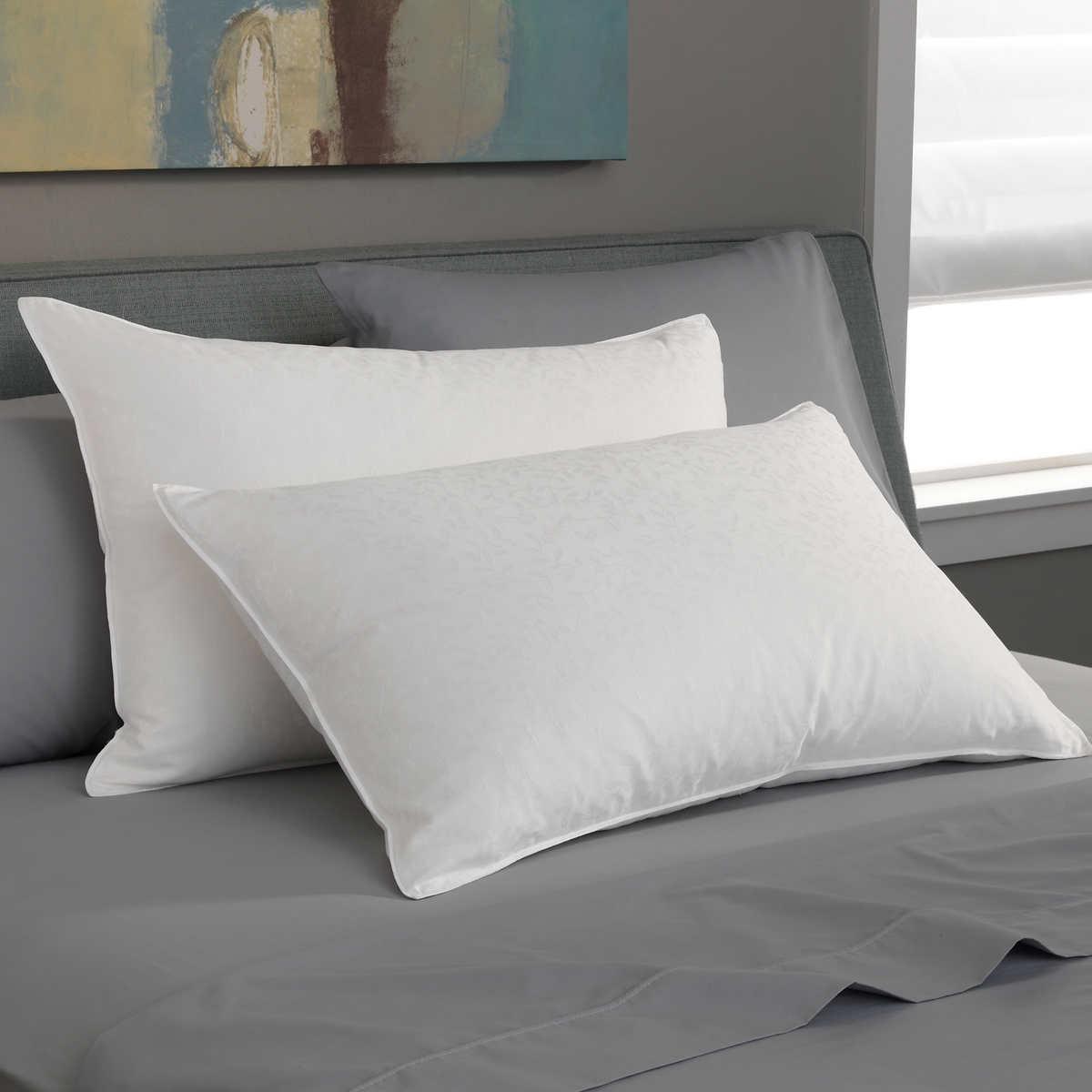 pacific coast, medium support, white goose down luxury pillow