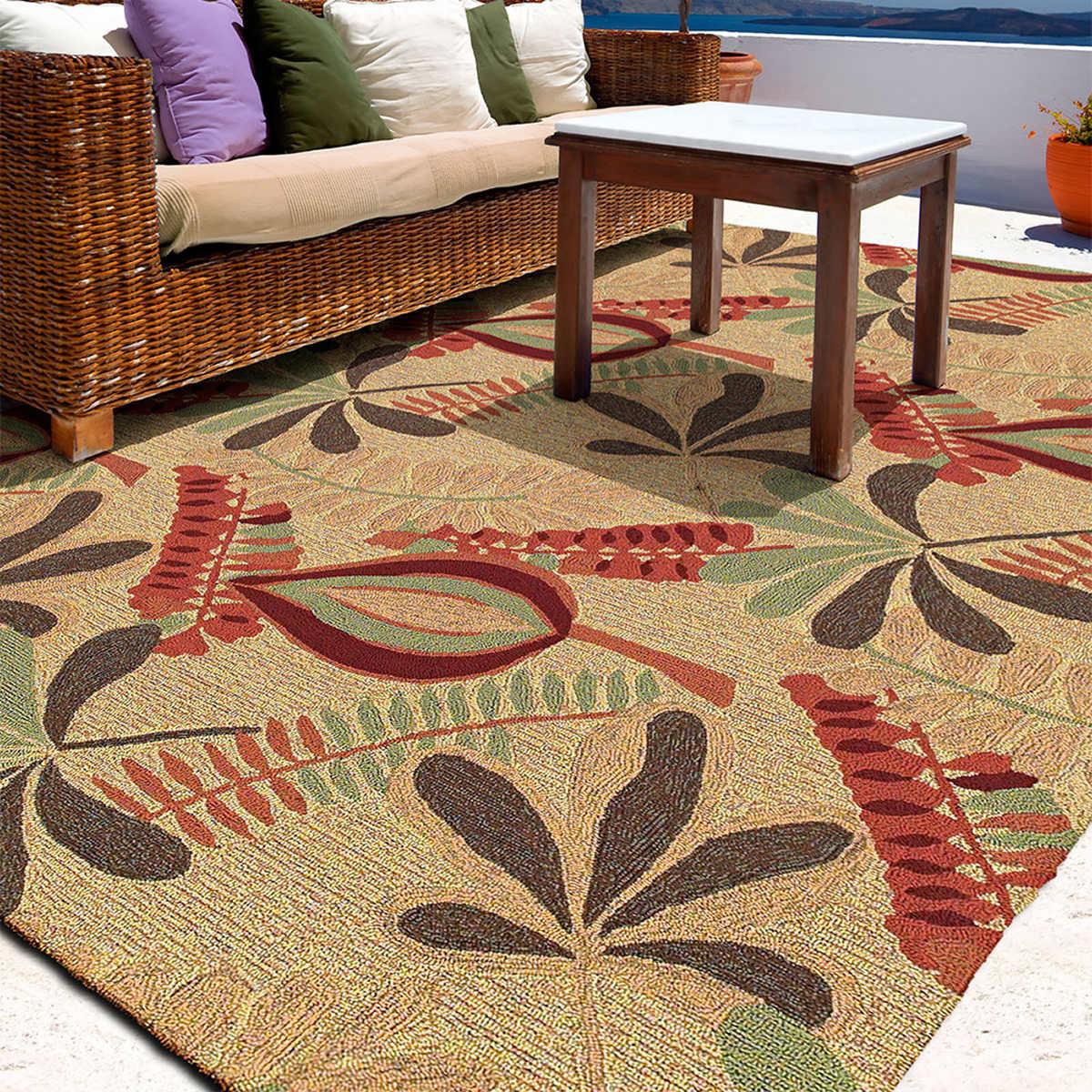 casa de sol hand-tufted 100% polypropylene rug collection i
