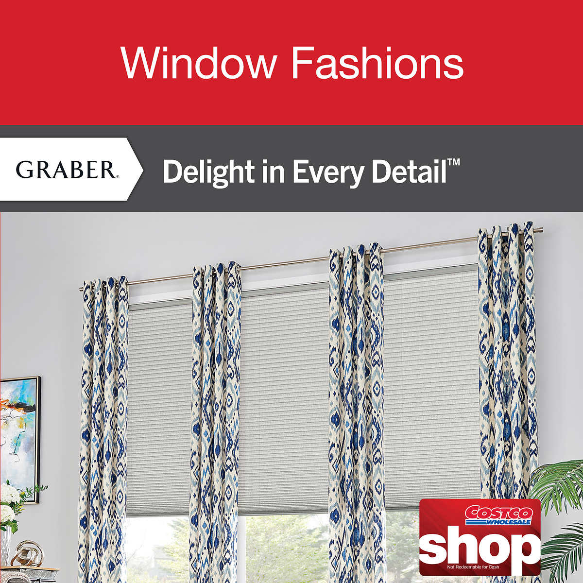window coverings drapes costco graber custom window coverings
