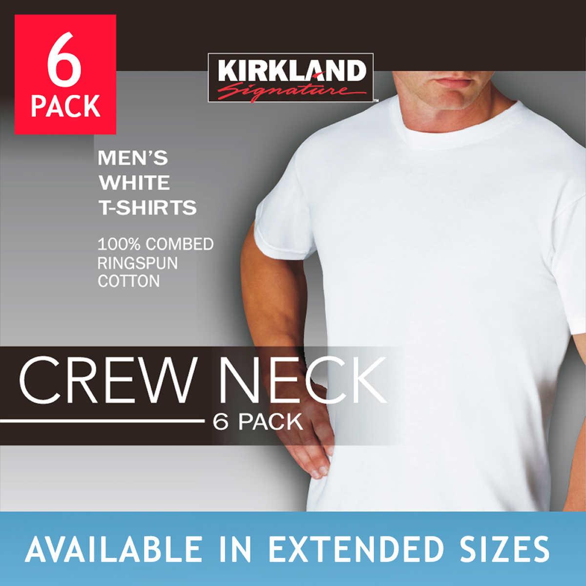 Kirkland Signature Men's Crew Neck Tee 4-pack, Black