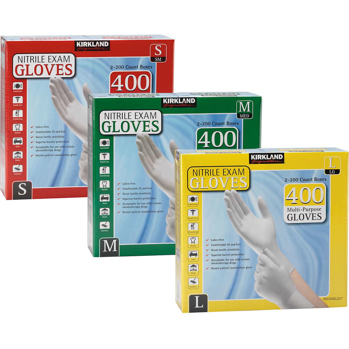 kirkland signature nitrile exam gloves 400 count