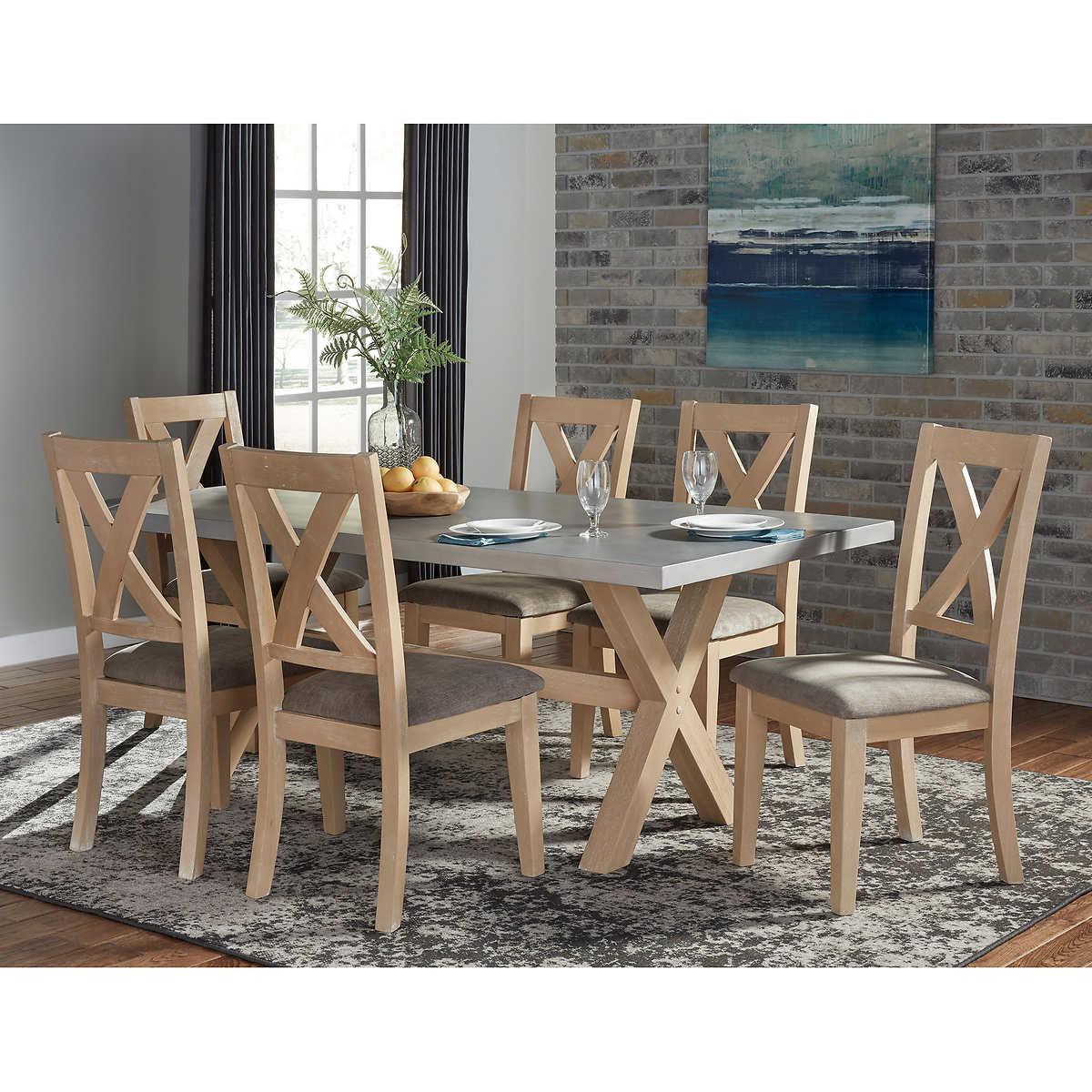 pulaski furniture dining kitchen furniture costco cierra zinc top 7 piece dining set